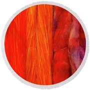Fall Fibers 3 Round Beach Towel