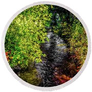 Round Beach Towel featuring the photograph Fall Foliage by Jon Burch Photography
