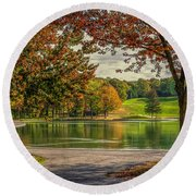 Fall In Montreal Round Beach Towel