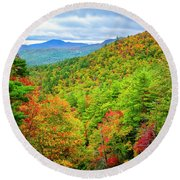 Fall In The Smokies Round Beach Towel