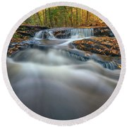 Round Beach Towel featuring the photograph Fall Morning At Vaughan Brook. by Rick Berk