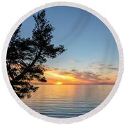 Round Beach Towel featuring the photograph Fallen Tree by Rod Best