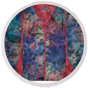 Falling  Floating Round Beach Towel