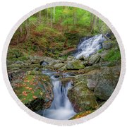 Round Beach Towel featuring the photograph Falls Brook 2 by Bill Wakeley