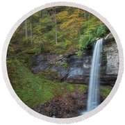 Round Beach Towel featuring the photograph Falls Of Hills Creek by Russell Pugh