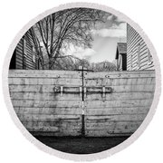 Farm Gate Round Beach Towel