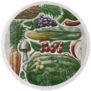Farmer's Market - Color Round Beach Towel