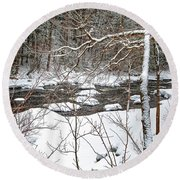 Farmington River - Northern Section Round Beach Towel