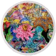 Fascinating Color Round Beach Towel