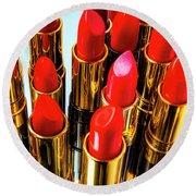 Fashionable Red Lipstick Round Beach Towel
