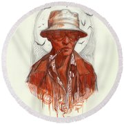 Fear And Loathing Round Beach Towel