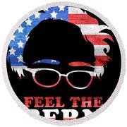 Feel The Bern Patriotic Round Beach Towel
