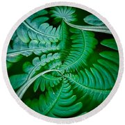 Fern Dance Round Beach Towel