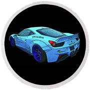 Ferrari 458 Liberty Walk Round Beach Towel