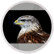 Ferruginous Hawk Round Beach Towel