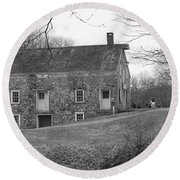 Smith's Store On The Hill - Waterloo Village Round Beach Towel