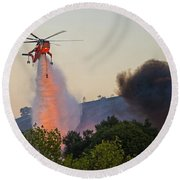 Round Beach Towel featuring the photograph Fighting Fire With Fire by Lynn Bauer
