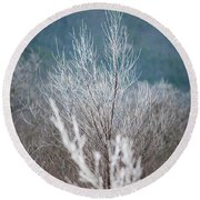 Fingers Of Hoarfrost Round Beach Towel
