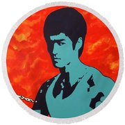 Fire Of The Dragon Round Beach Towel