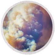 Round Beach Towel featuring the photograph Fire Power by Lynn Bauer