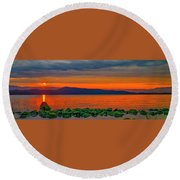 Fire Rock Round Beach Towel