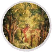 Firefly Twilight Round Beach Towel