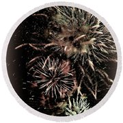 Fireworks In The Cosmos - Brainstorm Round Beach Towel