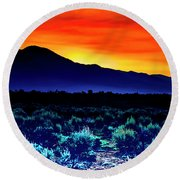 First Light V Round Beach Towel
