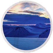 First Sun After Polar Night Round Beach Towel