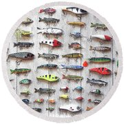 Fishing Lures - Dwp2669219 Round Beach Towel