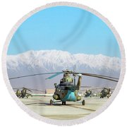 Round Beach Towel featuring the photograph Flight Line by SR Green