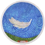 Floating Feather Round Beach Towel