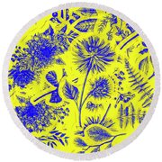 Flora And Foliage Round Beach Towel