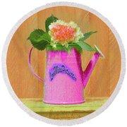 Floral  Art  374 Round Beach Towel