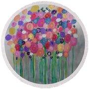 Floral Balloon Bouquet Round Beach Towel