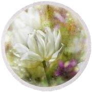 Floral Dust Round Beach Towel