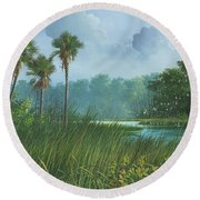 Florida's Back Country Round Beach Towel