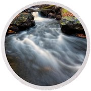 Round Beach Towel featuring the photograph Flow by Russell Pugh