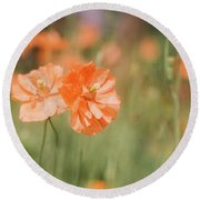 Flower Buddies Round Beach Towel