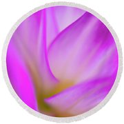 Flower Close Up Round Beach Towel