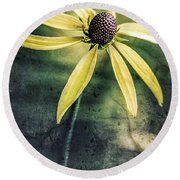 Round Beach Towel featuring the photograph Flower Texture by Michael Arend