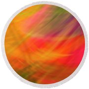 Flowers In Abstract Round Beach Towel