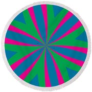 Flowers Number 18 Round Beach Towel