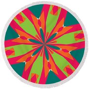 Flowers Number 21 Round Beach Towel