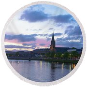 Flowing Down The River Ness Round Beach Towel