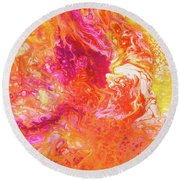 Fluid Hibiscus Round Beach Towel