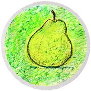Fluorescent Pear Round Beach Towel