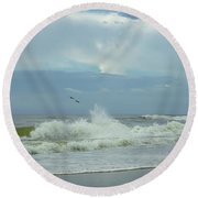 Fly Above The Surf Round Beach Towel