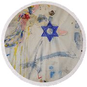 For I Have Longed For Your Love Round Beach Towel