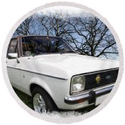 Ford Escort Round Beach Towel